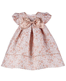 Bonnie Baby Baby Girls Metallic Floral Brocade Dress