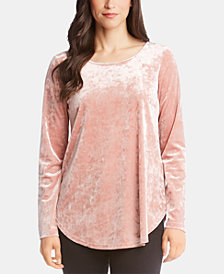 Karen Kane Crushed Velvet Top