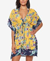 0dea1db7a07a Jessica Simpson Border-Print Tunic Cover-Up