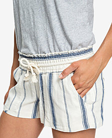 Roxy Juniors' Oceanside Striped Soft Shorts