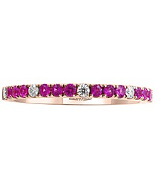 EFFY® Pink Sapphire (1/4 ct. t.w.) & Diamond (1/10 ct. t.w.) Ring in 14k Rose Gold