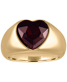 RACHEL Rachel Roy Gold-Tone Crystal Heart Statement Ring