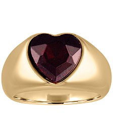 RACHEL Rachel Roy Gold-Tone Crystal Heart Statement Ring