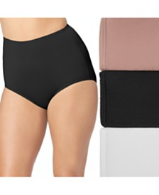 Olga 3-Pk. Women's Plus Size Without A Stitch Brief Underwear 23173J