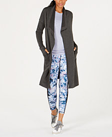 Ideology Long Open-Front Cardigan, Created for Macy's