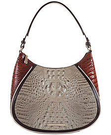 Brahmin Amira Embossed Leather Hobo