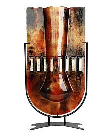 "18.5"" x 10"" Tall U Vase, High Temperature Fused Glass"