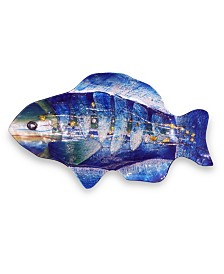 "18"" Blue Fish Plate"