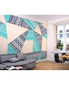 Layered Geometric Wall Mural