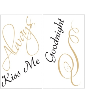 Always Kiss Me Wall Quote
