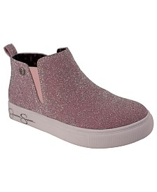 Pink Sparkle Sneaker Bootie