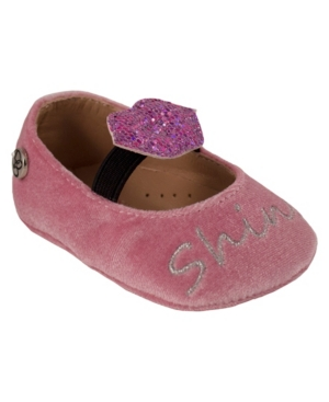 Jessica Simpson Youth Kids Blush Velvet Flat