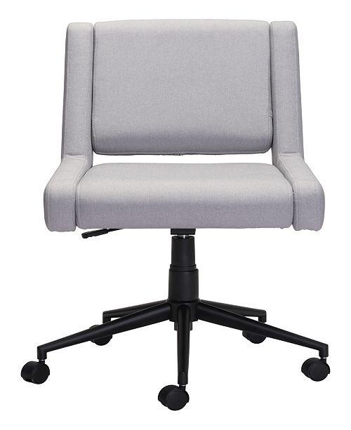 Zuo Brix Office Chair Light Gray