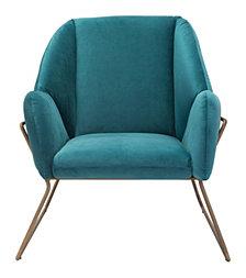 Stanza Arm Chair Green Velvet