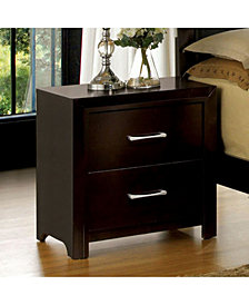 Transitional Style Night Stand, Espresso Finish