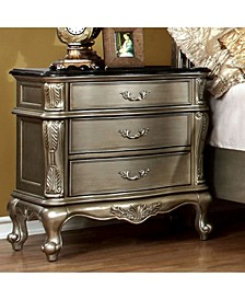 Luxurious Night Stand, Gold Finish
