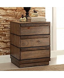 Transitional Style Night Stand,Brown