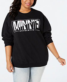 Disney by Love Tribe Trendy Plus Size Minnie Mouse Sweatshirt
