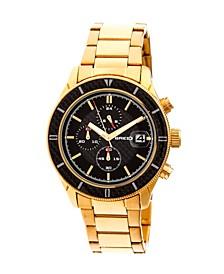 Quartz Maverick Chronograph Gold Alloy Watches 43mm