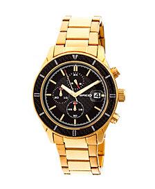 Breed Quartz Maverick Chronograph Gold Alloy Watches 43mm