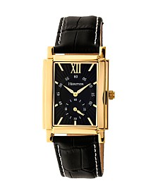 Heritor Automatic Frederick Gold & Black Leather Watches 32mm