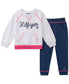 Tommy Hilfiger Toddler Girls 2-Pc. French Terry Sweatshirt & Jogger Pants Set