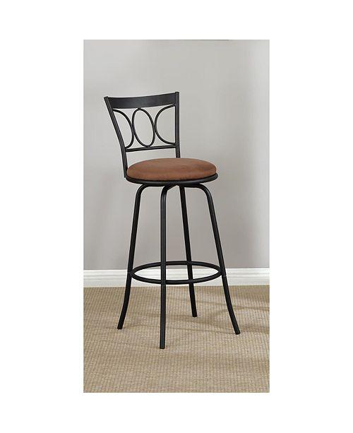 Groovy Slenderly Modern Metal Microfiber Cushion Swivel Barstool Black Set Of 2 Dailytribune Chair Design For Home Dailytribuneorg