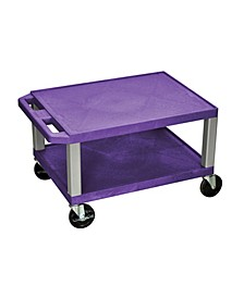 "16""H Tuffy AV Cart with 2 Shelf, Electric"