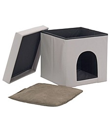 Home Collapsible Pet Bed and Foldable Ottoman