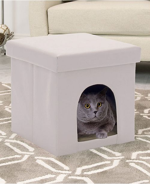 Incredible Offex Home Collapsible Pet Bed And Foldable Ottoman Inzonedesignstudio Interior Chair Design Inzonedesignstudiocom