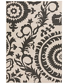 "Surya Alfresco ALF-9612 Black 7'6"" x 10'9"" Area Rug, Indoor/Outdoor"