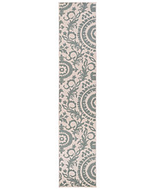 "Surya Alfresco ALF-9614 Sage 2'3"" x 7'9"" Runner Area Rug, Indoor/Outdoor"