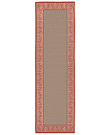 "Surya Alfresco ALF-9628 Rust 2'3"" x 7'9"" Runner Area Rug, Indoor/Outdoor"