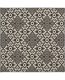 "Surya Alfresco ALF-9637 Black 8'9"" Square Area Rug, Indoor/Outdoor"