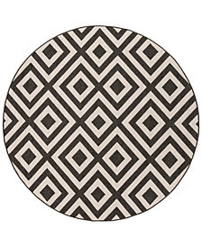 "Surya Alfresco ALF-9639 Black 8'9"" Round Area Rug"