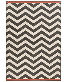 Alfresco ALF-9646 Black 6' x 9' Area Rug, Indoor/Outdoor