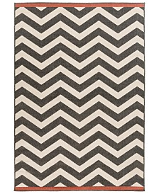"Surya Alfresco ALF-9646 Black 8'9"" x 12'9"" Area Rug, Indoor/Outdoor"