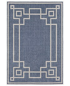 Alfresco ALF-9654 Charcoal 6' x 9' Area Rug, Indoor/Outdoor