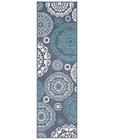 "Surya Alfresco ALF-9666 Charcoal 2'3"" x 7'9"" Runner Area Rug"