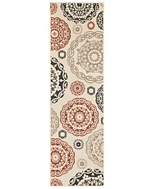 "Surya Alfresco ALF-9667 Cream 2'3"" x 7'9"" Runner Area Rug, Indoor/Outdoor"