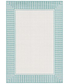 "Alfresco ALF-9680 Teal 7'6"" x 10'9"" Area Rug, Indoor/Outdoor"