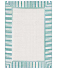 Surya Alfresco ALF-9680 Teal 6' x 9' Area Rug