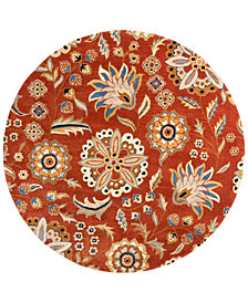 Surya Athena ATH-5126 Burnt Orange 6' Round Area Rug