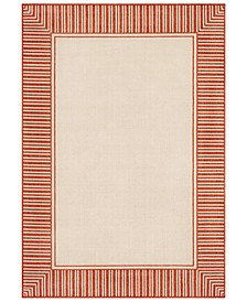 "Alfresco ALF-9683 Burnt Orange 2'3"" x 4'6"" Area Rug, Indoor/Outdoor"