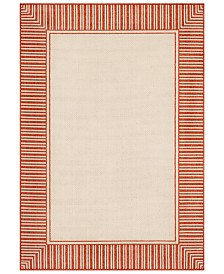 "Surya Alfresco ALF-9683 Burnt Orange 2'3"" x 4'6"" Area Rug, Indoor/Outdoor"