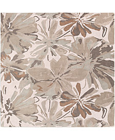 "Surya Athena ATH-5148 Light Gray 9'9"" Square Area Rug"