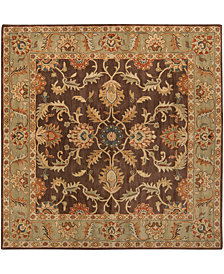"Surya Caesar CAE-1009 Dark Brown 9'9"" Square Area Rug"