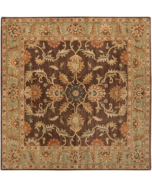 Surya Caesar CAE-1009 Dark Brown 8' Square Area Rug