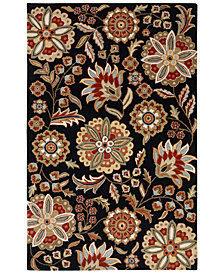 "Surya Athena ATH-5017 Black 18"" Square Swatch"