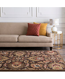 "Surya Caesar CAE-1028 Dark Brown 9'9"" Square Area Rug"